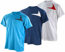 Mens T-Shirt Top - Lightweight Wicking Breathable Quick Dry Run Gym Sports