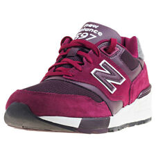 New Balance Ml597 Running Classics Mens Red Suede & Mesh Casual Trainers Lace-up