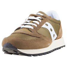 Saucony Jazz Original Vintage Mens Olive Suede & Mesh Casual Trainers Lace-up