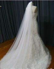 new Cathedral Length party Wedding Veil Bride proms 2 Tier + comb Ivory white 3M