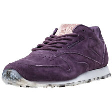 Reebok Classic Guilded Edge Womens Purple Suede Casual Trainers Lace-up