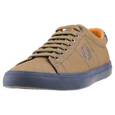 Fred Perry Underspin Heavy Waxed Hommes Baskets Olive Neuf Chaussure