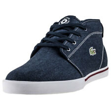 Lacoste Ampthill 118 1 Mens Blue Canvas Casual Chukka Boots Lace-up New Style