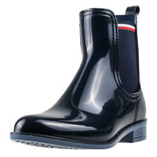Tommy Hilfiger Odette 11r Patent Womens Navy Walking Chelsea Boots New Style
