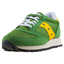 Saucony Jazz Original Vintage Mens Green Suede & Mesh Casual Trainers Lace-up