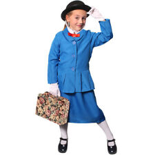 CHILDS MAGICAL NANNY CHARACTER GIRLS FANCY DRESS COSTUME TV FILM BOOK VICTORIAN