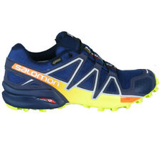 Salomon Speedcross 4 GTX Goretex Mens Outdoor Running Shoes Blue Yellow Orange