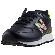 New Balance Wl574 Glitter Punk Womens Black Synthetic Casual Trainers Lace-up