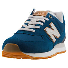 New Balance Ml574 Spring Outdoor Mens Blue Suede Casual Trainers Lace-up