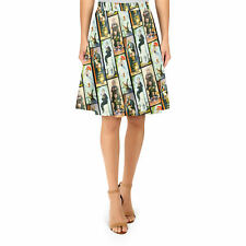 Haunted Mansion Stretch Paintings A-Line Skirt Sizes XS-3XL Flared Skirt