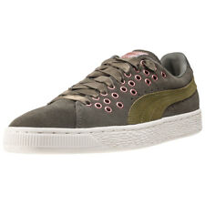 Puma Suede Xl Lace Velvet Rope Womens Olive Walking Trainers New Style