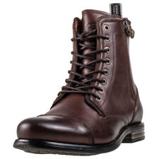 Sneaky Steve Fordham Mens Brown Leather Casual Boots Lace-up Genuine Shoes