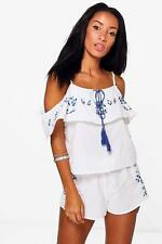 Boohoo Zoe Boutique Floral Embroidered Beach Co-ord para Mujer