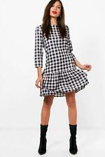 Boohoo Tall Freya Gingham Frill Hem Dress para Mujer