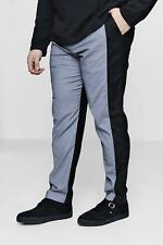 Boohoo Big And Tall Two Tone Tapered Trousers para Hombre