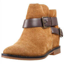 Hush Puppies Baubie Felise Hidden Wedge Donna Stivali Camel nuovo Scarpe