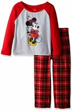 Minnie Mouse Girl's Toddler/Little Kid Holiday Pajamas 21MK338GLL 21MK338TLL