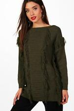 Boohoo Katie Tassel Fronted Knitted Jumper pour Femme