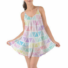 Pastel Triangles Beach Cover Up Dress XS-3XL