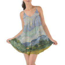 Vincent Van Gogh Fine Art Painting Beach Cover Up Dress XS-3XL