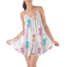 Watercolor Jelly Fish Beach Cover Up Dress XS-3XL
