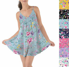 Floral Chinoiserie Beach Cover Up Dress XS-3XL