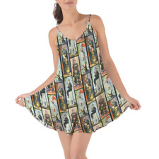 Haunted Mansion Stretch Paintings Beach Cover Up Dress XS-3XL
