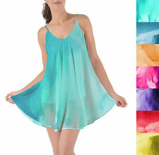 Colored Abstract Watercolor Beach Cover Up Dress XS-3XL