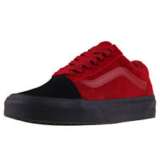 Vans Old Skool Womens Red Suede Casual Trainers Lace-up Genuine Shoes New Style