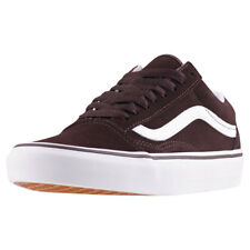 Vans Old Skool Womens Brown Suede Casual Trainers Lace-up Genuine Shoes