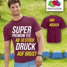 Fruit of the Loom Super Premium Tee estampada por ambos lados AB 10 unidad