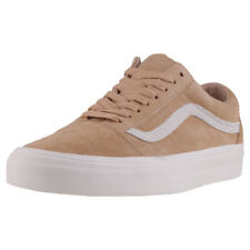 Vans Old Skool Mens Tan Suede Casual Trainers Lace-up Genuine Shoes New Style
