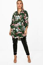 Boohoo Plus Tracy Floral Oversized Shirt para Mujer