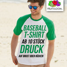 Fruit of the Loom Béisbol Camiseta unilateral estampado AB 10 unidad