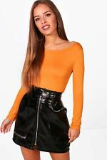 Boohoo Petite Lola Basic Long Sleeve Top para Mujer