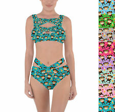 Monkeys Go Bananas Criss Cross Bandage Bikini Set XS-3XL