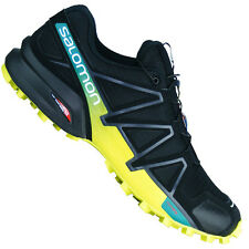 Salomon Speedcross 4 Men's Hiking Boots Running Shoes Black/Yellow/Turquoise