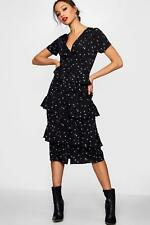 Boohoo Tall Morgan Star Print Midi Shirt Dress para Mujer