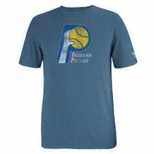 Indiana Pacers Throwback Logo Adidas Slim Fit Blue T Shirt   Clearance!