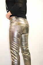 STUPENDI PANTALONI JEANS MISS SIXTY SOUL GOLD 2nd SKIN TROUSERS 30  Ltd.Edition