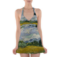 Vincent Van Gogh Fine Art Painting Halter Swim Dress Swimsuit XS-3XL