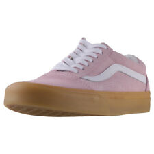 Vans Old Skool Double Light Gum Womens Pink White Suede Casual Trainers Lace Up