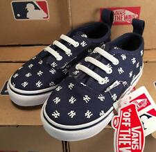 Vans New York Yankees MLB Toddler V Lace Authentic Sneakers Laced Slip On Shoes