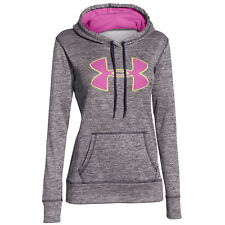 Under Armour Mujer Warm Up Storm LOGO GRANDE Sudadera Con Capucha Gris Fucsia