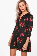Boohoo Laura Printed Shirt Dress para Mujer
