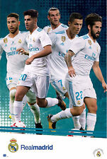 Fußball - Real Madrid - Players Action 17/18 - Sport Poster - Größe 61x91,5 cm
