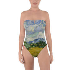 Vincent Van Gogh Fine Art Painting Tie Back Strapless Swimsuit XS-3XL