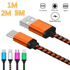 Universal Durable Braided Charging Charger Cable Cord For iOS Micro USB Type C