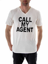 LOCAL CELEBRITY Camiseta Camiseta Call My Agent Crema Cuello Redondo Manga Corta