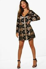 Boohoo Boutique Sophie Aztec Sequin Print Shift Dress para Mujer
